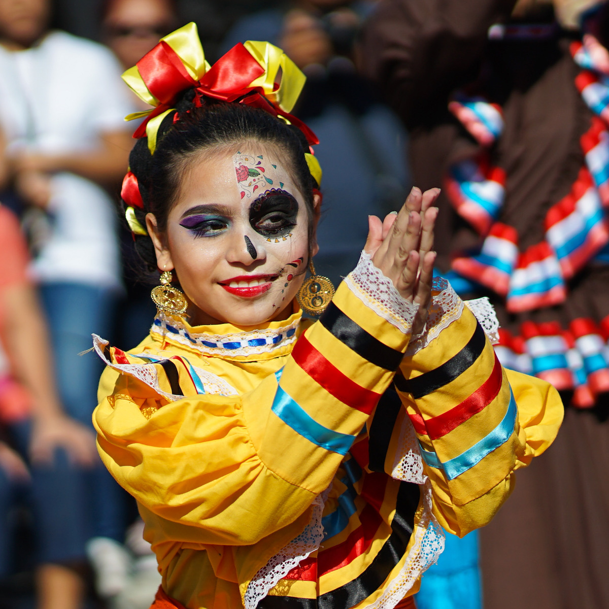 girl dancing some mexican folkdance