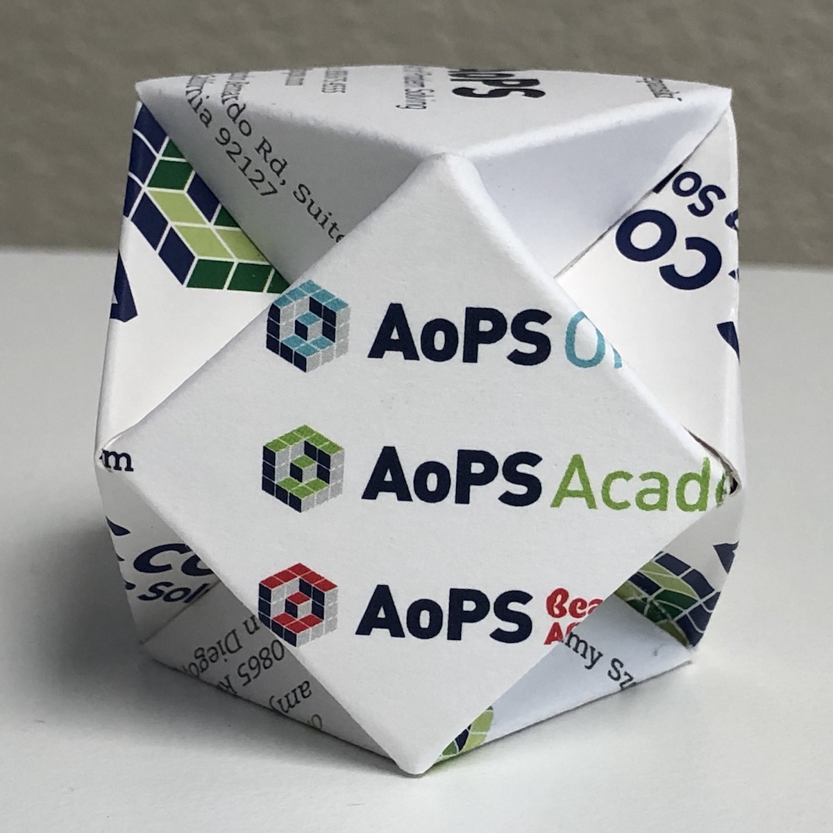 business card cuboctahedron